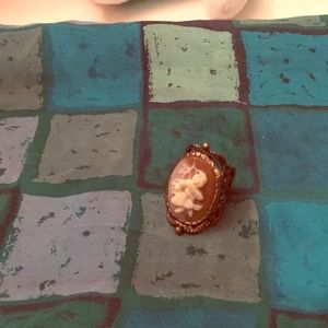 Jewelry - Vintage Chinese Copper Cabochon Ring, size 7